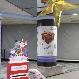 decoración navideña buzon real estrella navidad